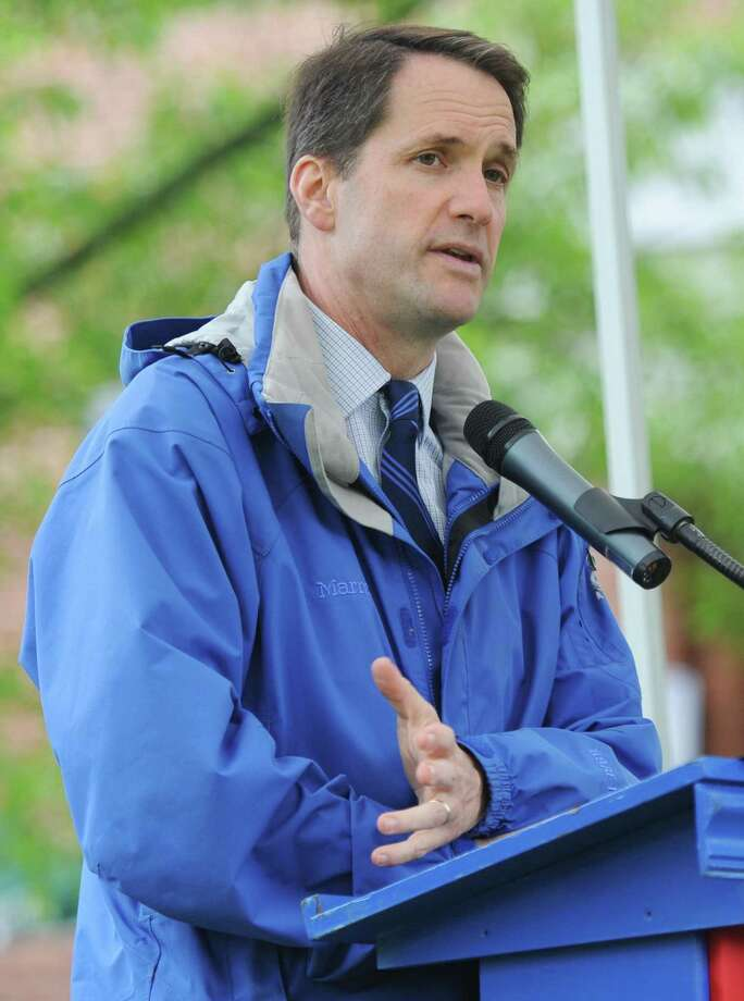 U.S. Rep. Jim Himes, seen here at the annual Memorial Day parade in Glenville last May, will have two public appearances in Greenwich this week, one before the Retired Men's Association and one at an Indivisible Greenwich event. Members of the public are invited to attend. Photo: Tyler Sizemore / Hearst Connecticut Media / Greenwich Time