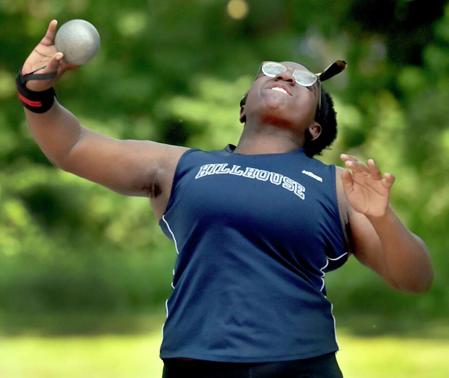 Hillhouse's Leah Moore will compete in the 38th annual Yale Interscholastic Track Classic at Coxe Cage this weekend. Photo: Peter Hvizdak / Hearst Connecticut Media / New Haven Register