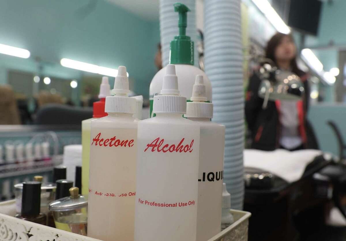The California Department of Toxic Substances Control held a news conference at New York Nail to discuss a new proposal to regulate a toxic chemical found in many nail products.