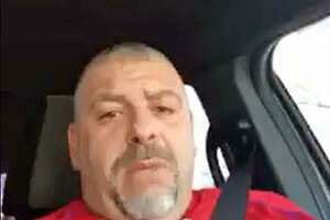 A screenshot from one of the two videos obtained by Hearst Connecticut Media that show Naugatuck, Conn., Police Lt. Bryan Cammarata making racially-motivated statements.