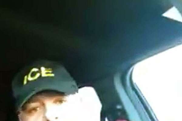 A screenshot from one of the two videos obtained by Hearst Connecticut Media that show Naugatuck, Conn., Police Lt. Bryan Cammarata saying racially-motivated statements.