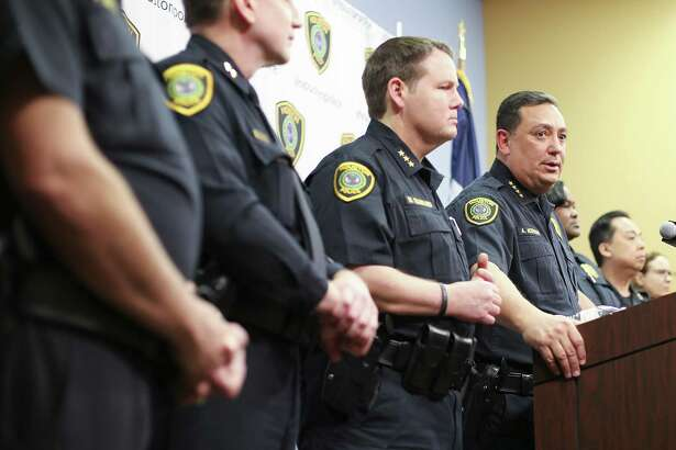 Houston Police Chief Art Acevedo talks to the media during a press conference at the police station on Thursday, Feb. 15, 2018 in Houston. Acevedo was updating the media on the investigation on the officer-involved shooting incident at 7815 Harding on Jan. 28, 2019 that left the homeowners dead and five police officers injured.