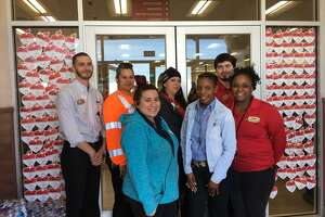 Thirty-six employees keep the Pilot Flying J in Beasley open 24 hours a day, seven days a week. That crew includes, from left, front: Crystal Zamudid, Deanna Green and Robin Pettit; back: C.J. Hill, Tonya Campos, Silvia Langland and Xzavier Burton.