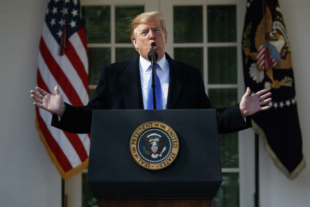 President Donald Trump declares a national emergency Friday to build more than 230 miles of barriers along the U.S.-Mexico border.