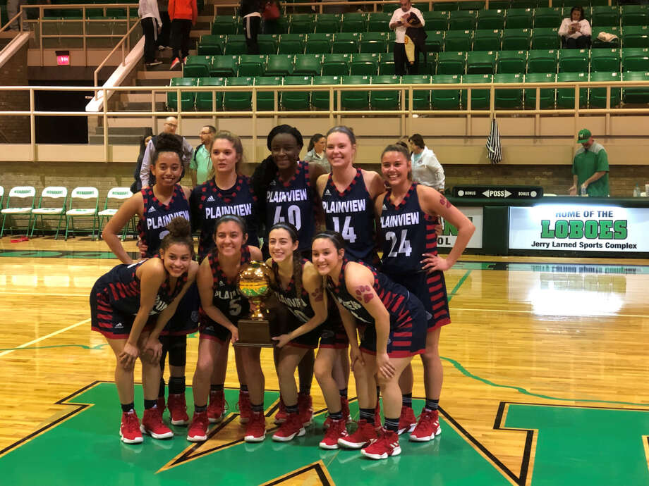 The Plainview Lady Bulldogs basketball team nabbed its second trophy of the week after beating the El Paso Andress Lady Eagles, 48-23, on Friday night at Monahan Sports Complex in Monahan. Photo: Courtesy Of Kevin Carter