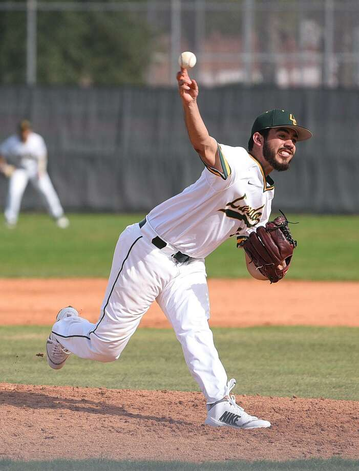 Pitcher Cristian Ramos and the Palominos went 1-3 this past weekend against Blinn College to snap a four-game win streak. Photo: Danny Zaragoza /Laredo Morning Times File / Laredo Morning Times