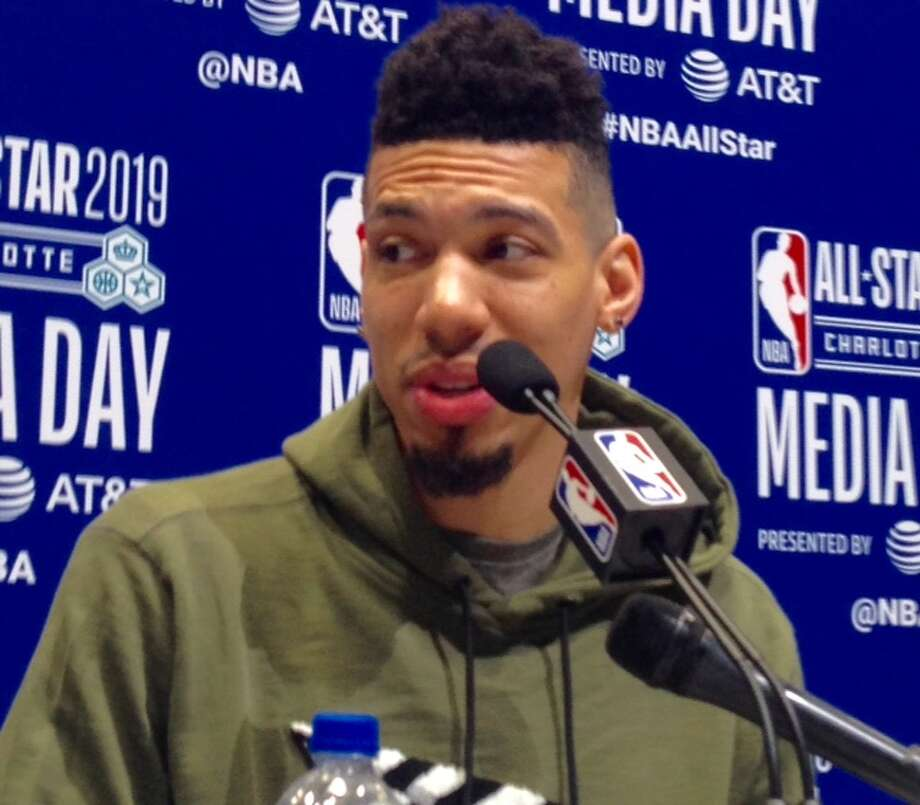 Danny Green meets with the media at All-Star Weekend Saturday in Charlotte. Photo: Tom Orsborn/Staff