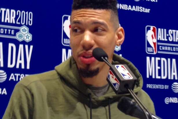 Danny Green meets with the media at All-Star Weekend Saturday in Charlotte.
