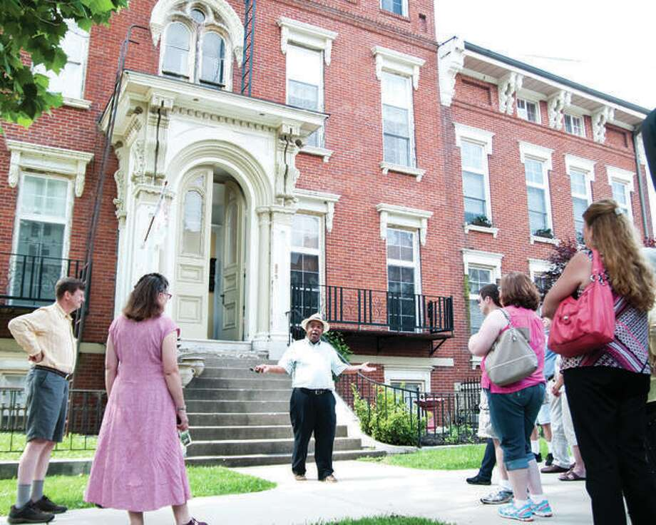 The Enos Apartments located at 325 E 3rd St. in Alton are among the stops on the Underground Railroad Tours. Photo: File Photo