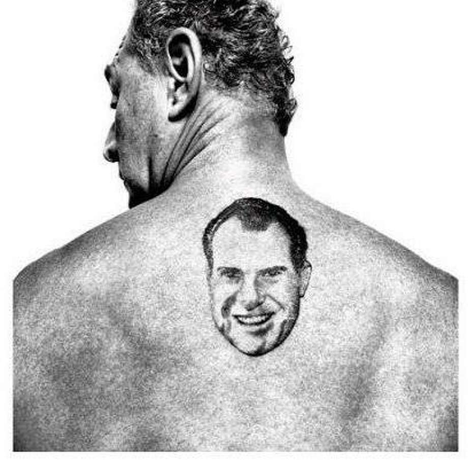 Widely circulated photo of former Trump Aid Roger Stone with a tattoo of Richard Nixon on his back. Via Snopes. Photo: / Contributed Photo