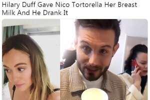 Social media reacted to the video Nico Tortorella posted on his Instagram Story of him drinking his co-star Hilary Duff's breast milk.