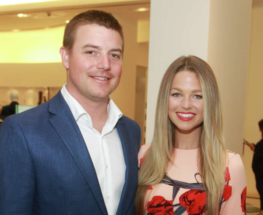 Astros pitcher Joe Smith and wife, Allie LaForce at luncheon they hosted benefiting Help Cure HD. Photo: Gary Fountain/Contributor / © 2018 Gary Fountain