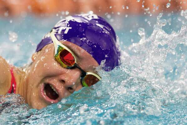 Bobbi Kennett of Ridge Point competes in the girls 100-yard freestyle during the UIL State Swimming & Diving Championships at the Lee & Joe Jamail Texas Swimming Center, Saturday, Feb. 16, 2019, in Austin.