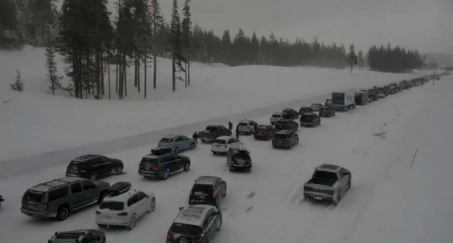 Multiple-vehicle crash near Donner Pass creates traffic nightmare on I-80 heading to Truckee