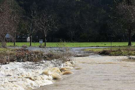 The road at Del Valle Reservoir to a campground was flooded over the weekend and the park will be closed to March 3 Photo: Tom Stienstra / K. Damstra / Special To The Chronicle