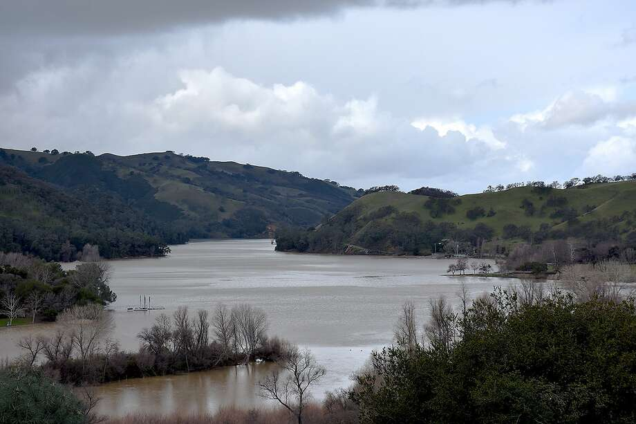 Del Valle Reservoir flooded over its banks on the weekend, closing the park through Sunday. Photo: K. Damstra / Special To The Chronicle