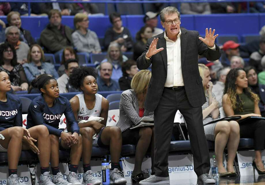 Geno Auriemma and the UConn women's basketball team faces UCF on Sunday in Orlando, Fla. Photo: Stephen Dunn / Associated Press / Copyright 2019 The Associated Press. All rights reserved