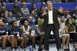 Geno Auriemma and the UConn women's basketball team faces UCF on Sunday in Orlando, Fla.