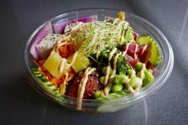 A poke bowl from Poke Bar. (Times Union file photo.)
