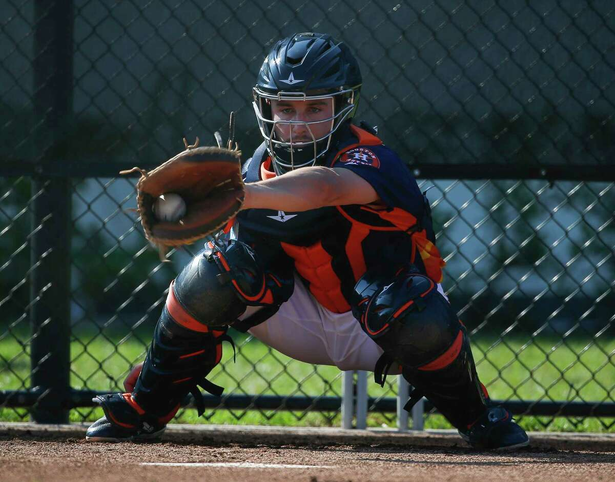 PHOTOS: Houston Astros top prospects in 2019 Houston Astros catcher Garrett Stubbs (77) catches during bullpen practice at Fitteam Ballpark of The Palm Beaches on Day 3 of spring training on Saturday, Feb. 16, 2019, in West Palm Beach. >>>Browse through the photos for a look at the Astros' top prospects for 2019 ...