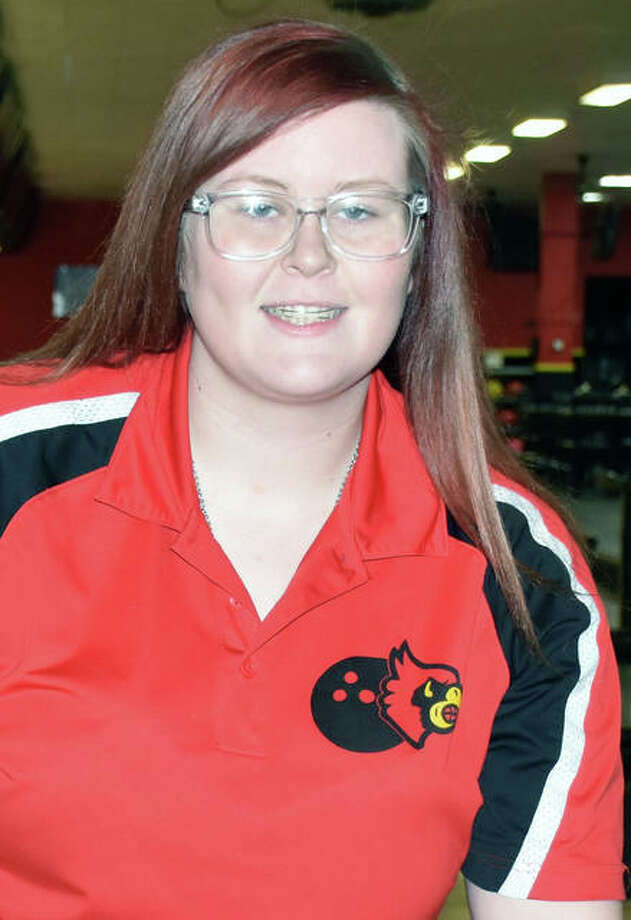 Alton bowler Ashley Westbrook finished 28th among individuals Saturday at the IHSA Girls State Bowling Tournament at The Cherry Bowl in Rockford. Photo: Submitted Photo