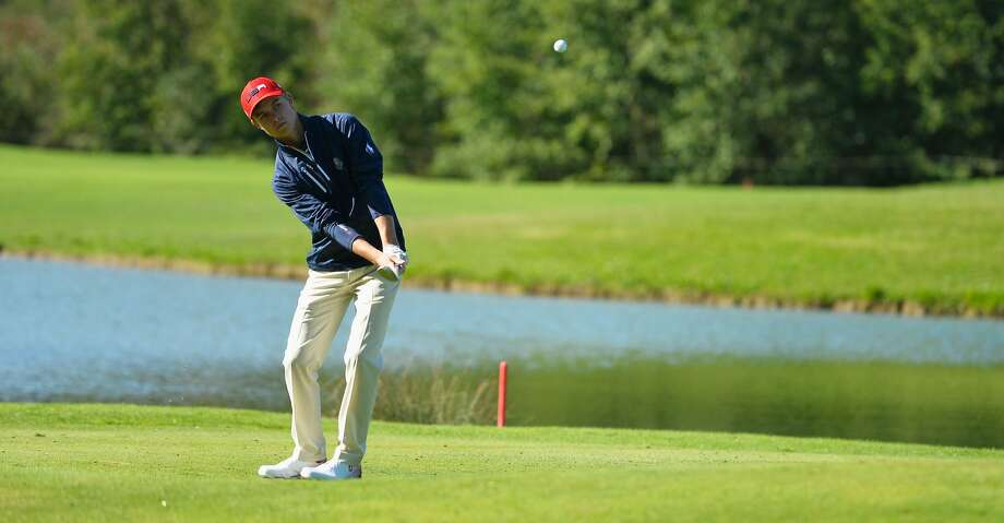 PARIS, FRANCE - SEPTEMBER 24:  William Moll of Team USA plays an approach during the foursomes on day one of the 2018 Junior Ryder Cup at Disneyland Paris on September 24, 2018 in Paris, France.  (Photo by Aurelien Meunier/Getty Images) Photo: Aurelien Meunier/Getty Images