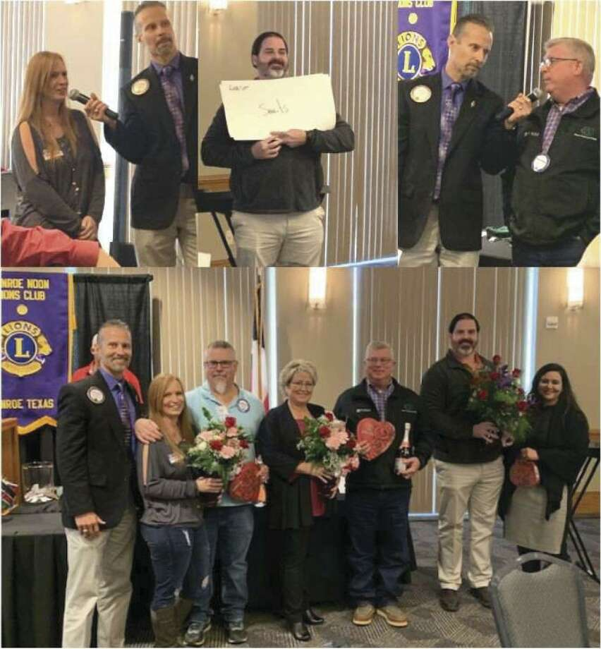 "Conroe Noon Lions Club hosted their annual Sweetheart's Day last week with a rousing rendition of the ""Not-So-New Newly Wed Game""; emceed by Program Chair Mike Sproba and contestants Michael & Elaine Freeman, Janet & Robert Walker and James & Yara Guest."