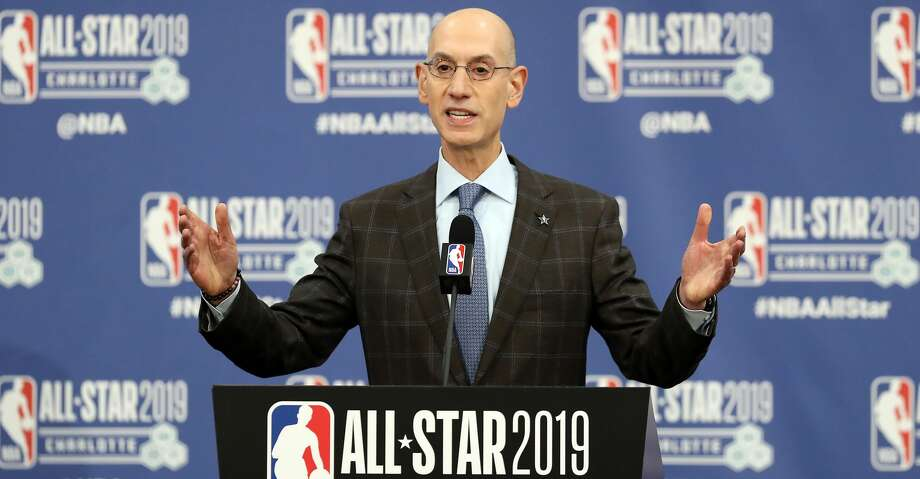CHARLOTTE, NORTH CAROLINA - FEBRUARY 16: Adam Silver, NBA Commissioner, talks to the media during the NBA All Star Commissioner's Media Availability as part of the 2019 NBA All-Star Weekend at Spectrum Center on February 16, 2019 in Charlotte, North Carolina. (Photo by Streeter Lecka/Getty Images) Photo: Streeter Lecka/Getty Images