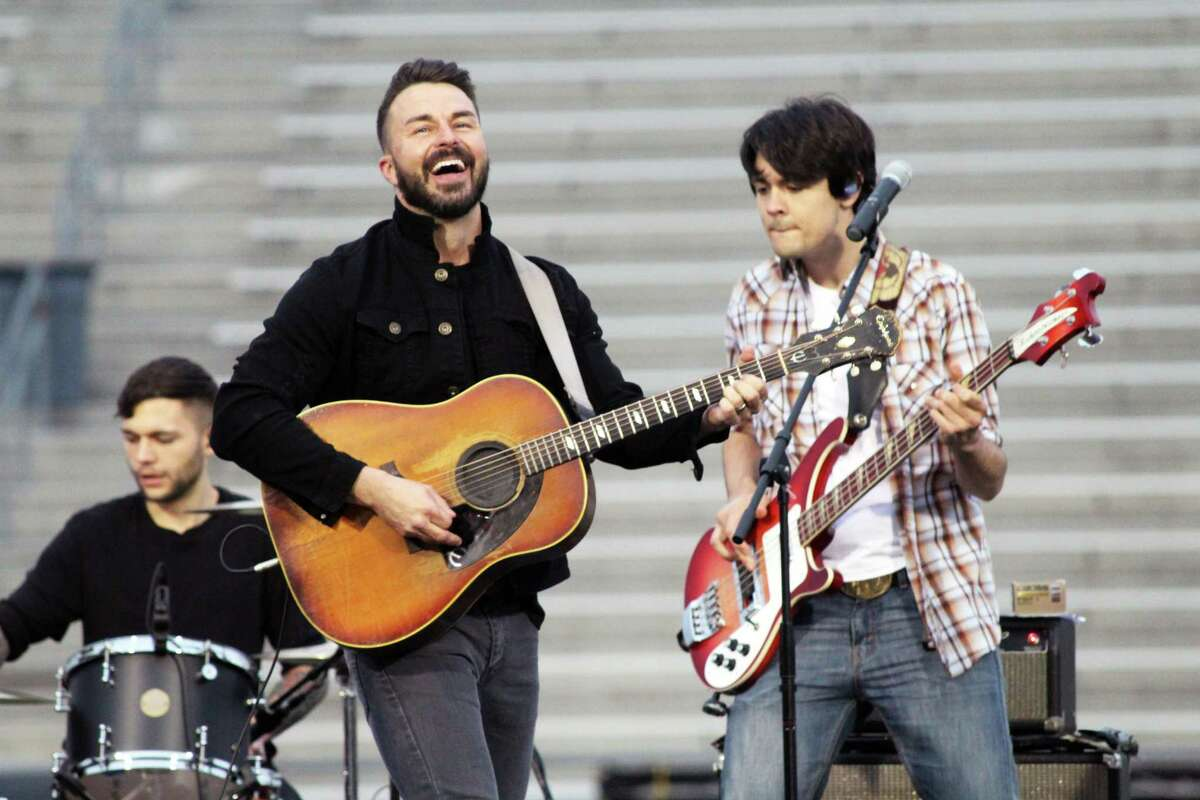 Gary Kyle and the Kin perform at the Humble ISD's Centennial Celebration on Feb. 16, 2019. Kyle (left) is a Kingwood High School graduate of 1995.