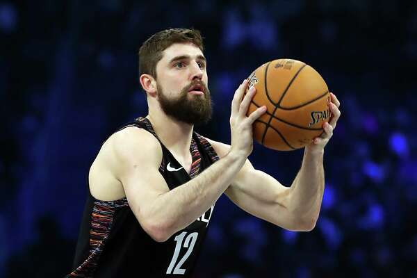 CHARLOTTE, NORTH CAROLINA - FEBRUARY 16: Joe Harris #12 of the Brooklyn Nets takes a shot during the MTN DEW 3-Point Contest as part of the 2019 NBA All-Star Weekend at Spectrum Center on February 16, 2019 in Charlotte, North Carolina. (Photo by Streeter Lecka/Getty Images)