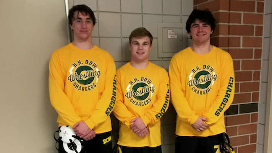 From left, Dow High's Sam Martin, Brennan Doyle and Aidan Belgiorno qualified for the individual state finals on Saturday.