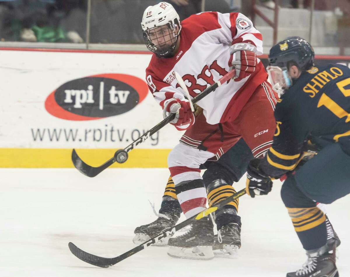 RPI forward Ture Linden, shown in a game in 2019, said he and his teammates are looking forward to rekindling their rivalry with Union.