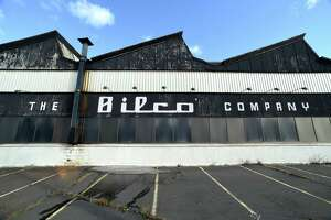 The vacant Bilco Company overhead door manufacturer on Water St. in West Haven photographed on January 24, 2018 is scheduled for demolition to make way for The Havens upscale outlet mall.