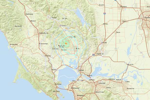 A magnitude 3.7 earthquake shook Yountville and the Bay Area around 2 a.m. on Feb. 17, 2019.
