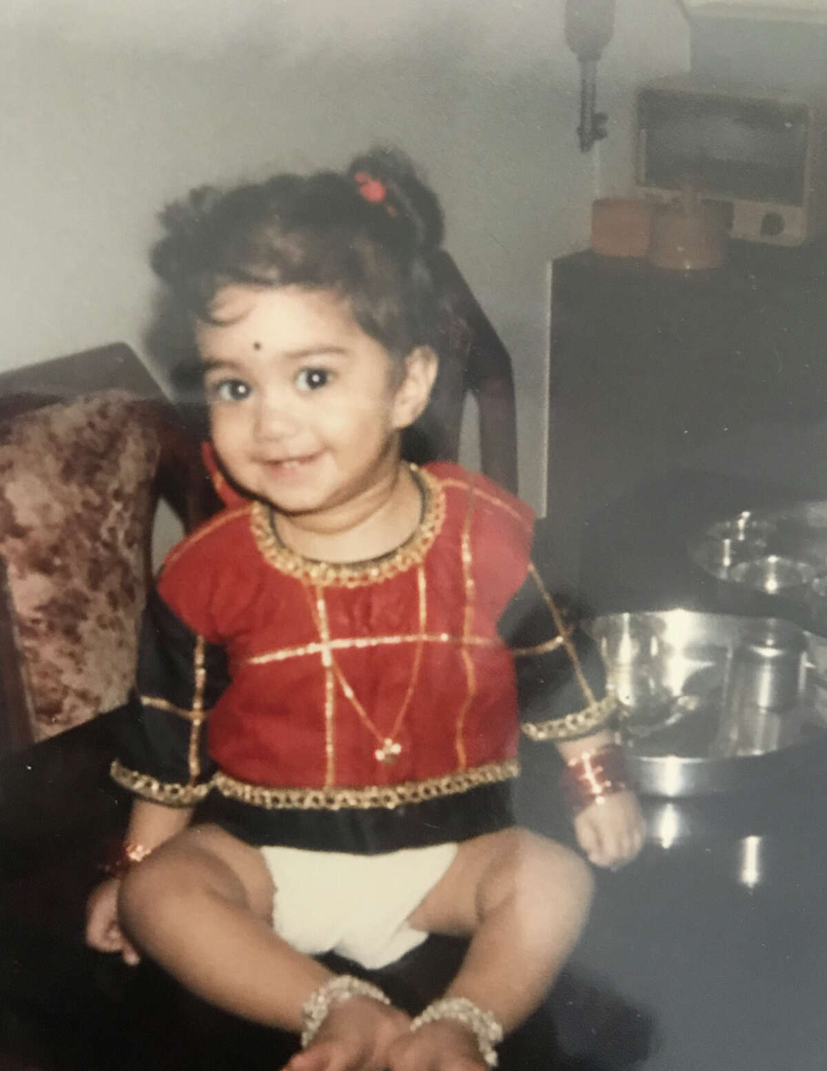 My family is from India. I took my first trip there when I was 8 months old.