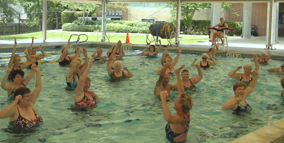 The Monroe Parks and Recreation Department is sponsoring water aerobics classes at the pool at Masuk High School, 1014 Monroe Turnpike. Photo: File Photo / Internal