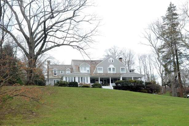 The home located at 15 Grove Lane in Greenwich Conn., Tuesday, Jan. 20, 2015. This is the boyhood home of former President George H.W. Bush.