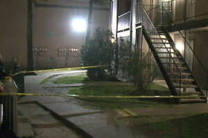 Police sealed off a southwest Houston apartment where a man supposedly stabbed his wife several times before slitting his own neck on Sunday.
