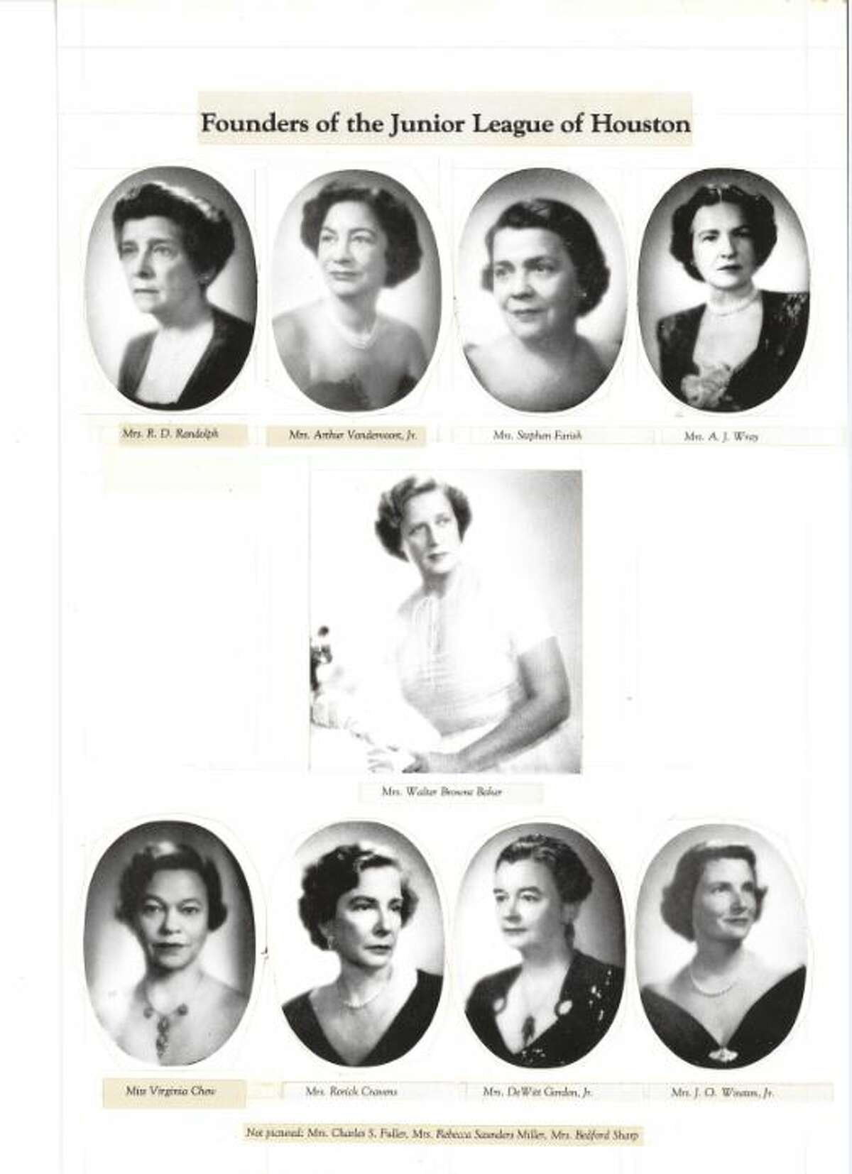 1925 Headshots, taken in 1925, of the founding members of the Junior League of Houston.