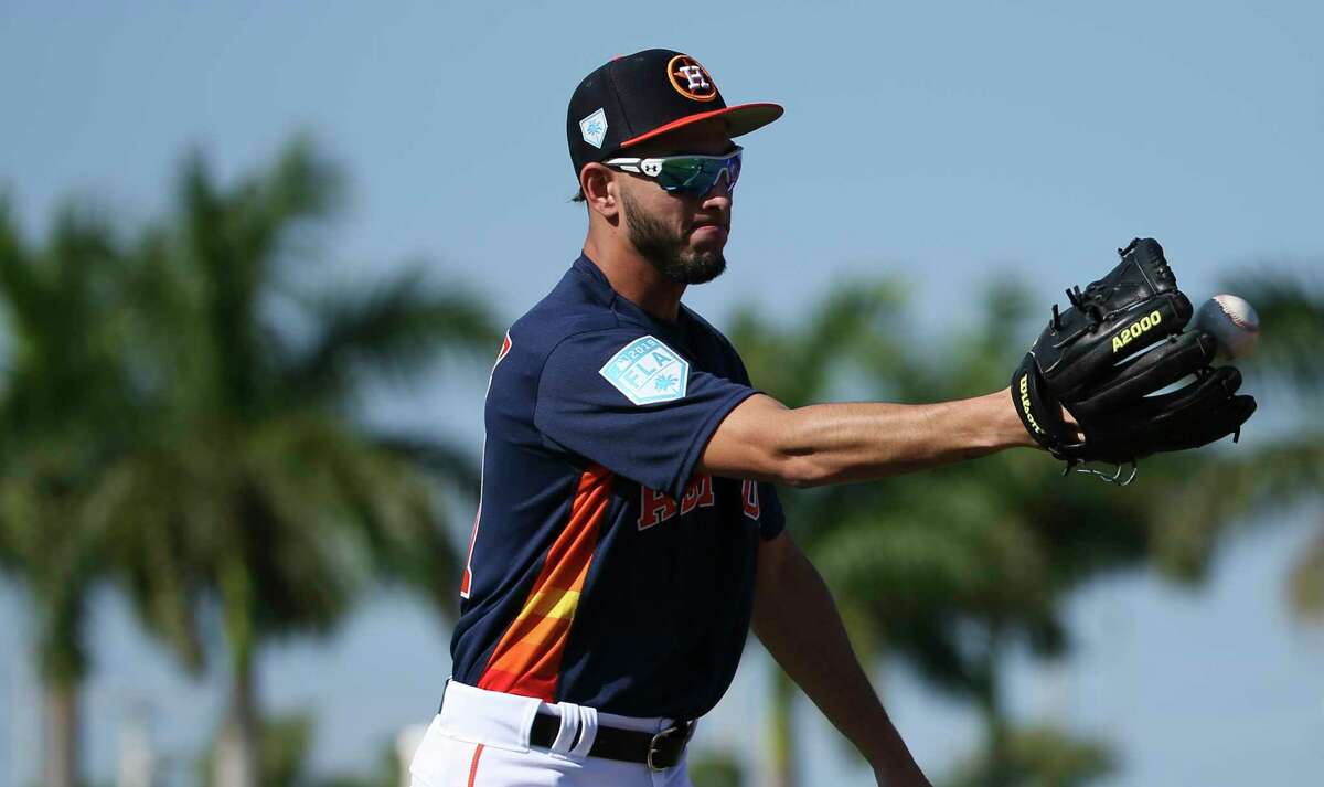 PHOTOS: Houston Astros top prospects in 2019 Houston Astros left handed pitcher Cionel Perez (51) works on pitcher's fielding practice with Double A Corpus Christi pitching coach Graham Johnson at Fitteam Ballpark of The Palm Beaches on Day 4 of spring training on Sunday, Feb. 17, 2019, in West Palm Beach. >>>Browse through the photos for a look at the Houston Astros' top prospects heading into the 2019 season ...
