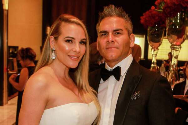 EMBARGOED FOR SOCIETY REPORTER UNTIL FEBRUARY 19 Sheila and Moses Ybarra at Houston Children's Charity's 22nd annual gala.