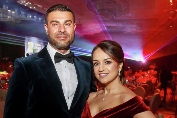 EMBARGOED FOR SOCIETY REPORTER UNTIL FEBRUARY 19 Omar and Maria Alaoui at Houston Children's Charity's 22nd annual gala.