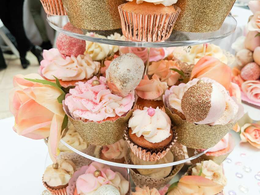 Some of the desserts offered by Mama Tee's Remedy, a San Francisco-based company that was one of about two dozen vendors at the Cannabis Wedding Expo at Westfield Mall in San Francisco on Sunday, Feb. 17, 2019.