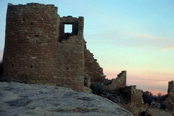 Hovenweep National Monument, located in Utah. Ancestral Puebloans who lived in this area left numerous remains of their civilization, but National Park officials worry that recently awarded oil and gas leases would bring heavy trucking and other activities that could damage the historic structures.