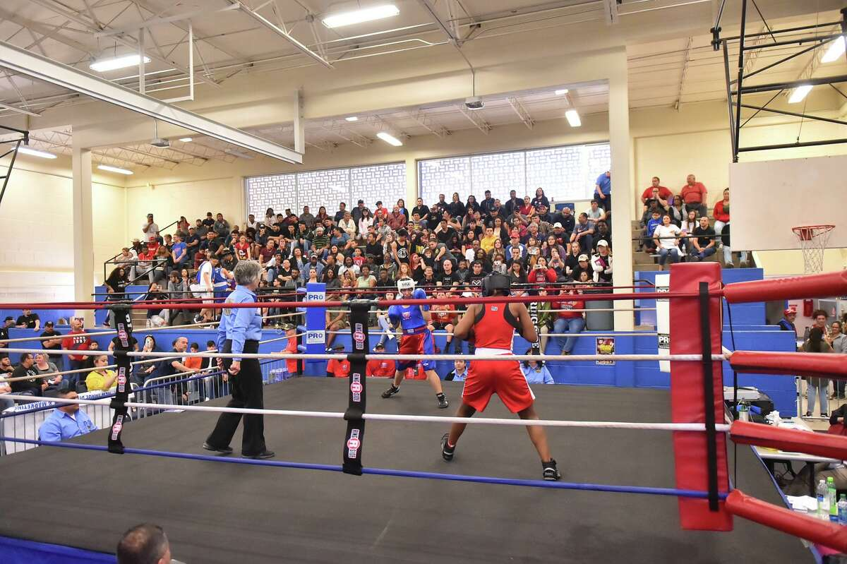 Though a large crowd attended the 2019 Golden Gloves, pictured, this year's tournament had about 200 masked fans who had to follow COVID-19 protocols.