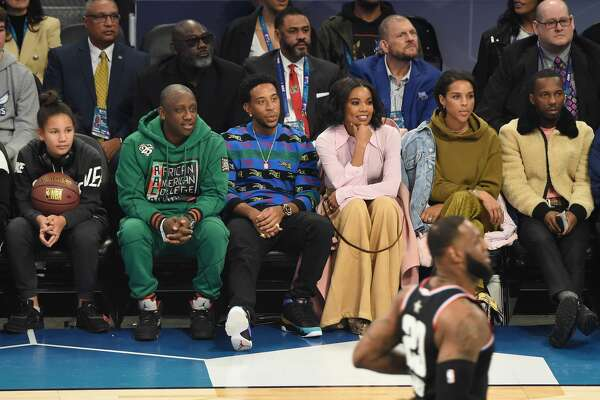 CHARLOTTE, NC - FEBRUARY 17: Ludacris and Gabrielle Union attend the 68th NBA All-Star Game at Spectrum Center on February 17, 2019 in Charlotte, North Carolina. (Photo by Kevin Mazur/WireImage)