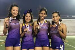 LBJ's 4x400-meter relay team of Ayleen Soto, Adriana Martinez, Luz Martinez , Xiomara Velasquez placed third at the 6th Annual Indian Nation Relays.