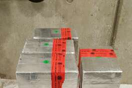 CBP officers seized 18 packages containing 100 pounds of alleged meth at a Laredo port of entry.