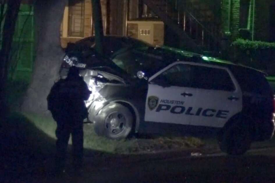 At least one Houston police officer was taken to a hospital after attempting to do a PIT maneuver during a chase in the Third Ward area.