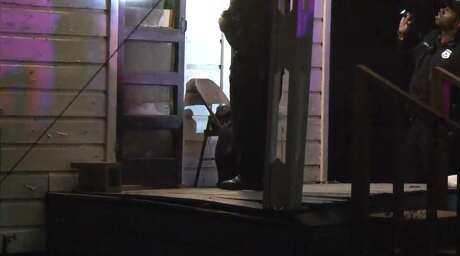 Houston police investigate a shooting late Sunday that left one man dead in the Northside Village subdivision. Police said he was gunned down while sitting on his porch.